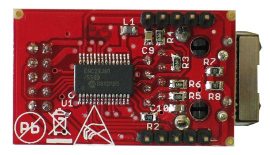 Placa Retea MOD-ENC28J60 Arduino 3