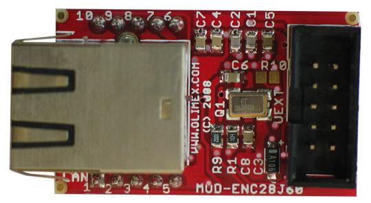 Placa Retea MOD-ENC28J60 Arduino 2