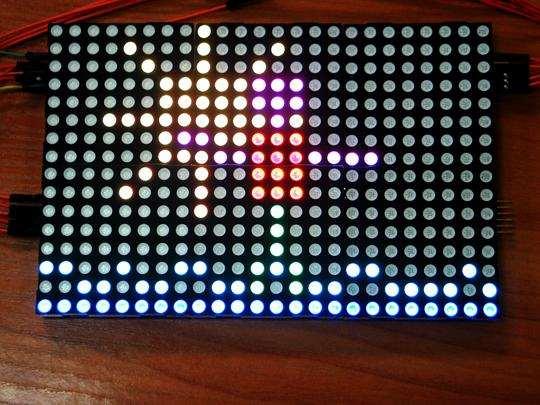 Matrice de led-uri 8X8 RGB , inlantuibila 1