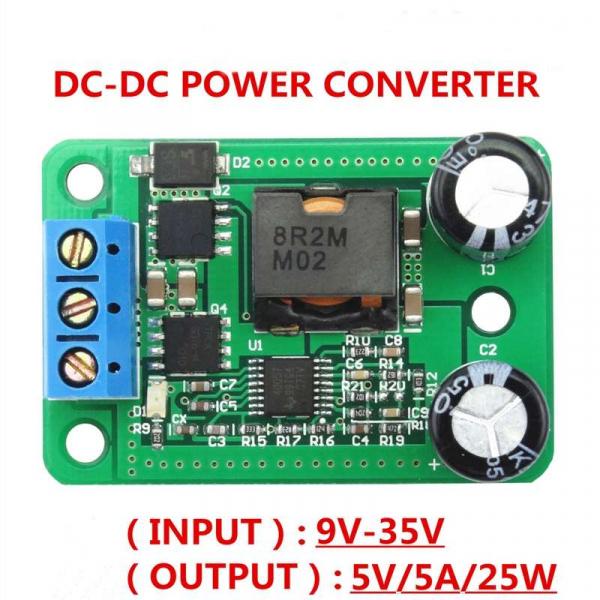 Modul convertor DC-DC 24V/12V la 5V/5A 4