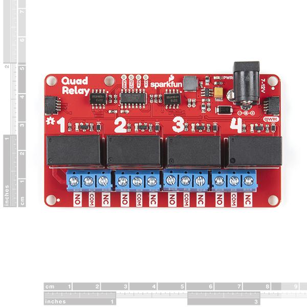 Modul releu cvaruplu SparkFun Qwiic Quad Relay 1