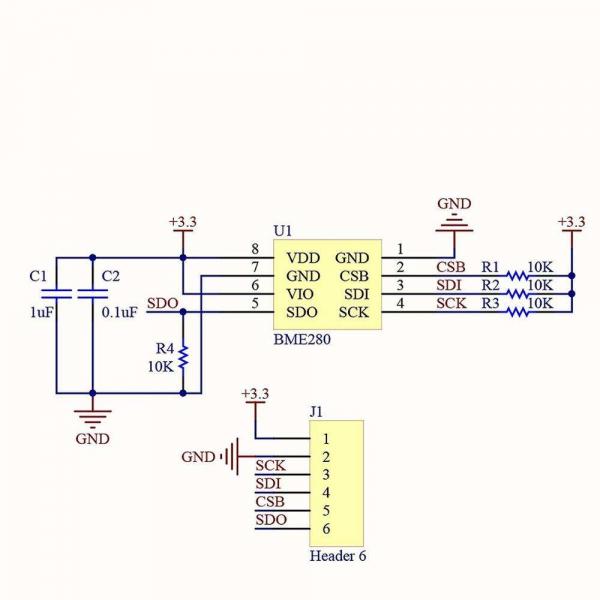 Modul senzor presiune atmosferica/altimetru ME-BME280 [1]