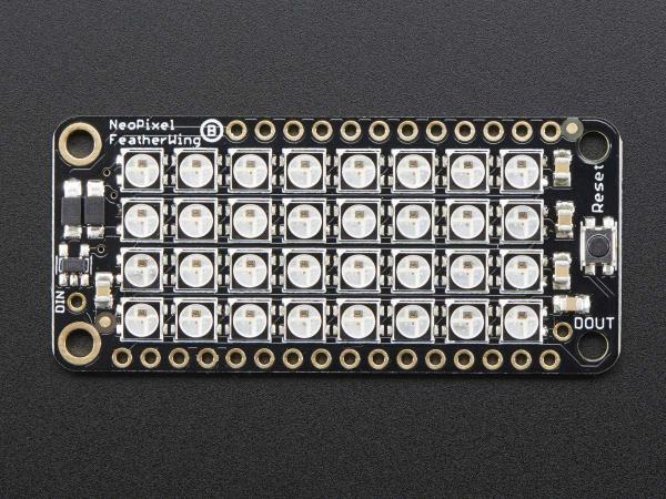 Matrice 4x8 LED-uri RGB - NeoPixel FeatherWing [4]