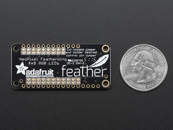 Matrice 4x8 LED-uri RGB - NeoPixel FeatherWing [5]