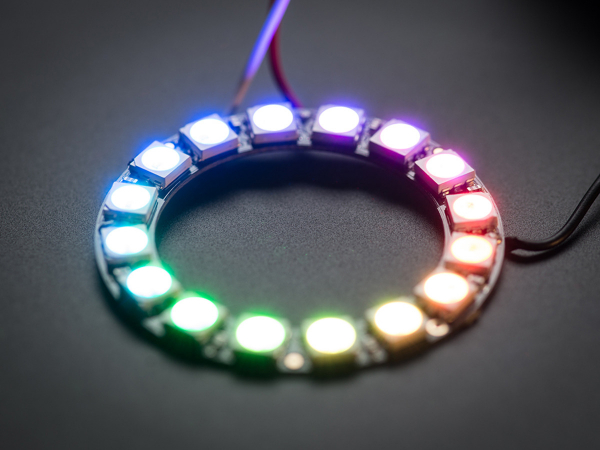 NeoPixel Ring - 16 x WS2812 5050 RGB LED Adresabile 0