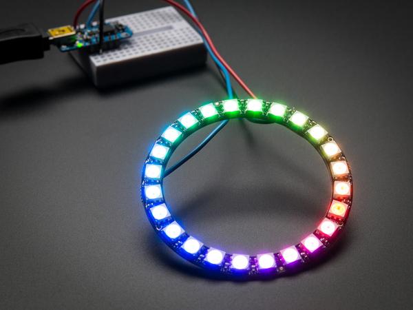 NeoPixel Ring - 24 x WS2812 5050 RGB LED Adresabile 1