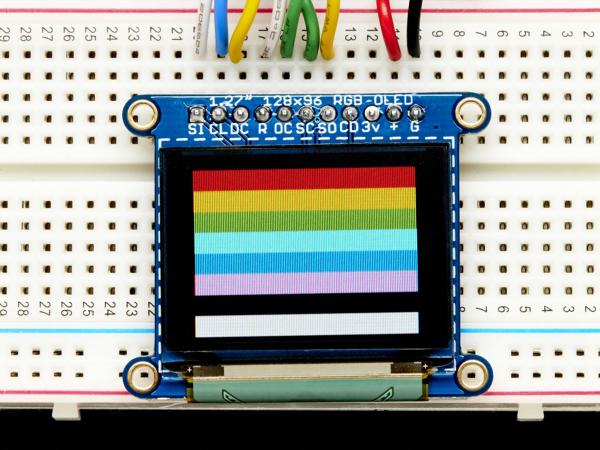 """OLED Breakout Board - 16-bit Color 1.27"""" w/microSD 0"""