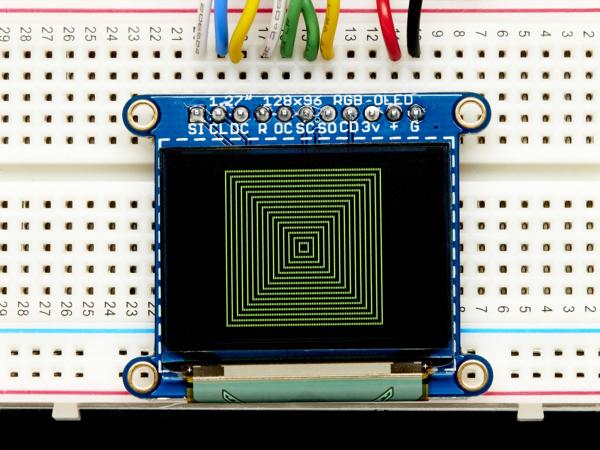 """OLED Breakout Board - 16-bit Color 1.27"""" w/microSD 1"""