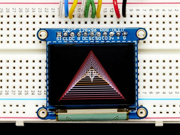 """OLED Breakout Board - 16-bit Color 1.27"""" w/microSD 2"""