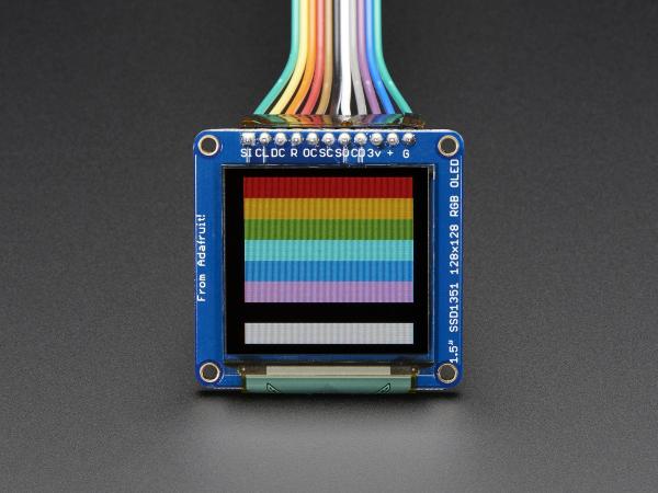 """OLED Breakout Board - 16-bit Color 1.5"""" w/microSD 0"""