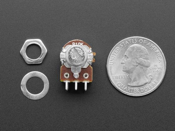 Potentiometru de 10K, liniar, dublu, cu montaj pe panou si comutator 1