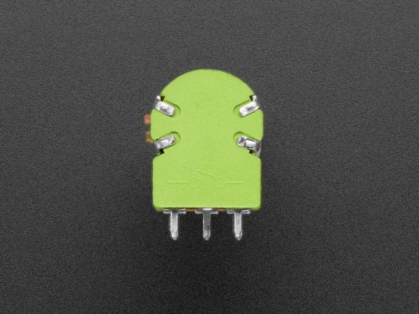 Potentiometru de 10K, liniar, dublu, cu montaj pe panou si comutator 2
