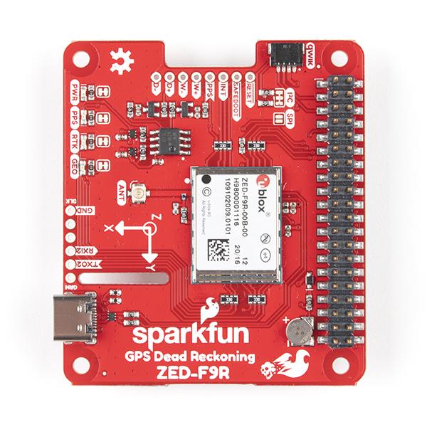 pHAT calcul mort SparkFun GPS-RTK ZED-F9R pentru Raspberry Pi [1]