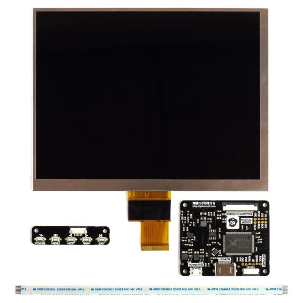 Pimoroni kit afisaj IPS LCD de 8 inch (1024x768) cu HDMI [2]