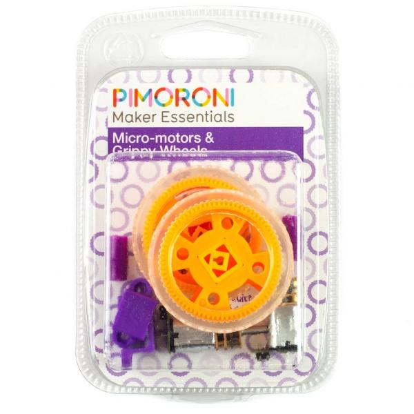 Pimoroni Maker Essentials set micro-motoare si roti aderente 1