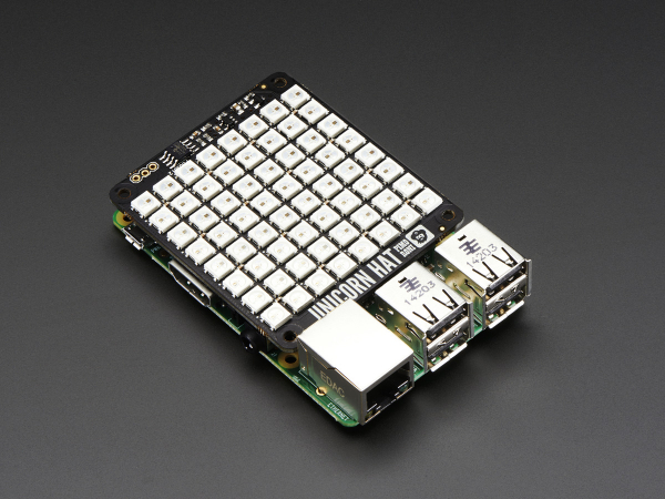 Pimoroni Unicorn Hat - 8x8 RGB LED Shield pentru Raspberry Pi A+/B+ [3]