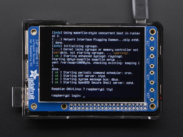 """PiTFT Plus Mini Kit 320x240 2.8"""" TFT + Touchscreen capacitiv [3]"""