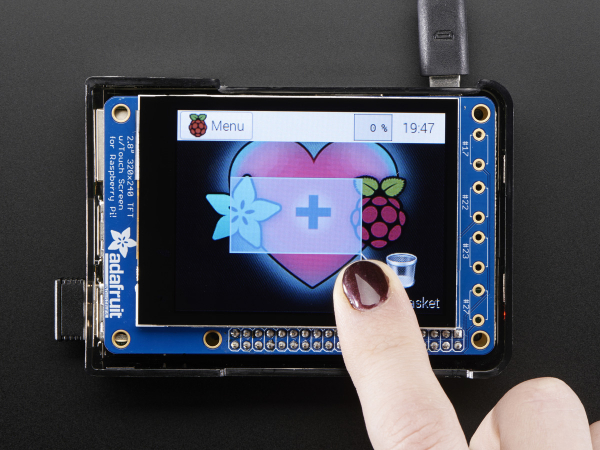 """PiTFT Plus Mini Kit 320x240 2.8"""" TFT + Touchscreen capacitiv [1]"""