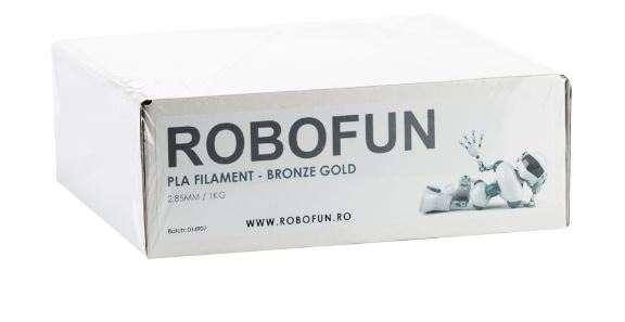 RETRAS - Filament Premium Robofun PLA 1KG  3 mm - Bronze Gold [8]