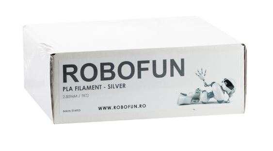 RETRAS - Filament Premium Robofun PLA 1KG  3 mm - Silver [4]