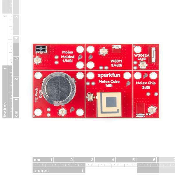 Placa evaluare cu 6 antene SparkFun [1]