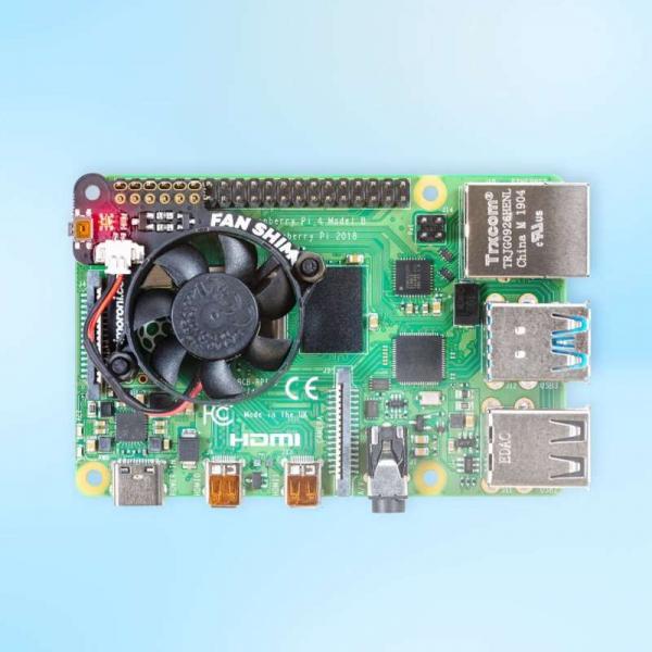 Ventilator controlabil Pimoroni Fan SHIM pentru Raspberry Pi 4 3