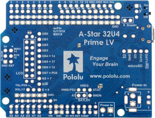 Placa Pololu A-Star 32U4 Prime LV 2