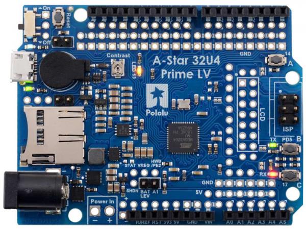 Placa Pololu A-Star 32U4 Prime LV cu microSD [1]