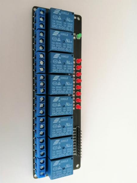 Placa releu 8 canale, 5 V 0