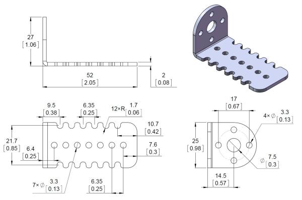 25D mm Metal Gearmotor Bracket Pair [2]