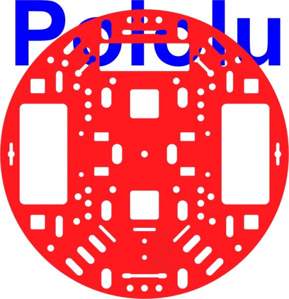 """Sasiu Pololu 5""""  RRC04A Solid Rosu 0"""