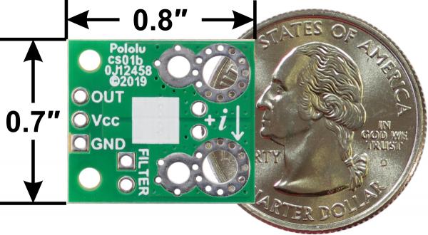 Pololu ACHS-7124 -40A/+40A breakout senzor curent 1