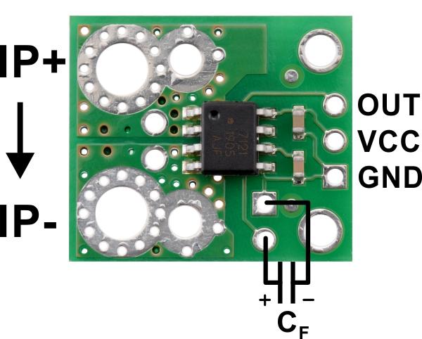 Pololu ACHS-7124 -40A/+40A breakout senzor curent 2