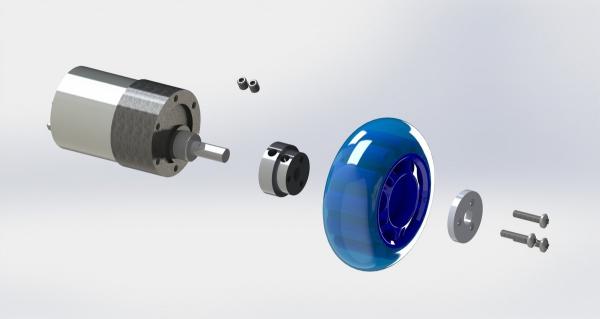 Conector roata (trotinete,role) cu ax 6mm [4]