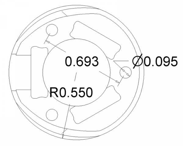 Ball Caster 25.4 mm plastic 2