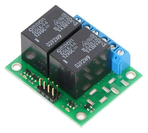 Placa 2 relee  SPDT  12VDC 0