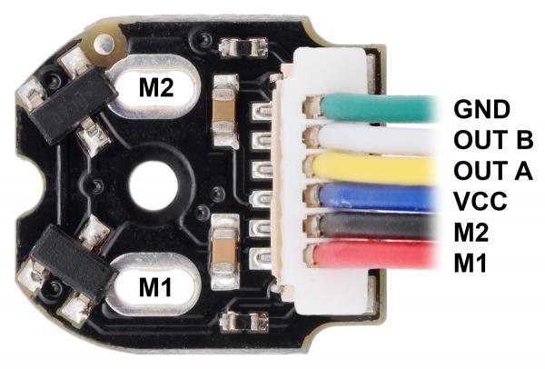Pololu codificatori cuadratura, conector superior, 12CPR, 2.7 - 18V [1]