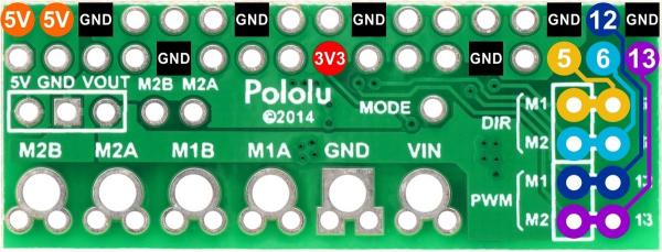 DRV8835 Dual Motor Driver Kit pentru Raspberry Pi B+ [3]
