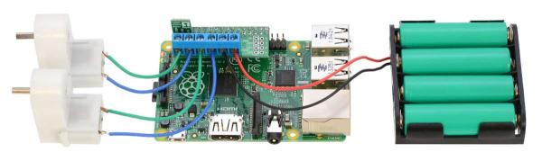 DRV8835 Dual Motor Driver Kit pentru Raspberry Pi B+ [2]