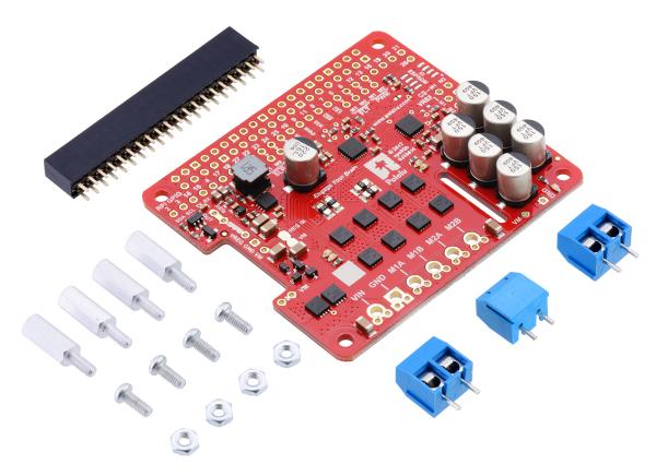 Pololu Dual G2 High-Power Motor Driver 18v18 pentru Raspberry Pi (Partial Kit) [1]