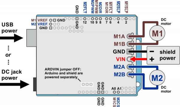 Pololu Dual G2 High-Power Motor Driver 18v18 Shield pentru Arduino 5