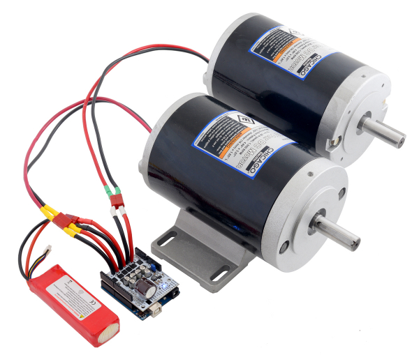 Pololu Dual G2 High-Power Motor Driver 18v18 Shield pentru Arduino 2