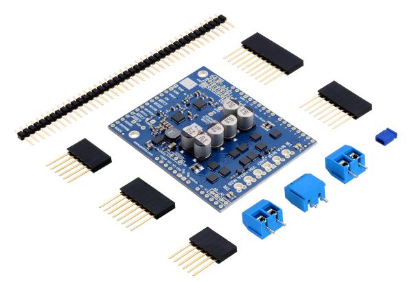 Pololu Dual G2 High-Power Motor Driver 18v18 Shield pentru Arduino 0