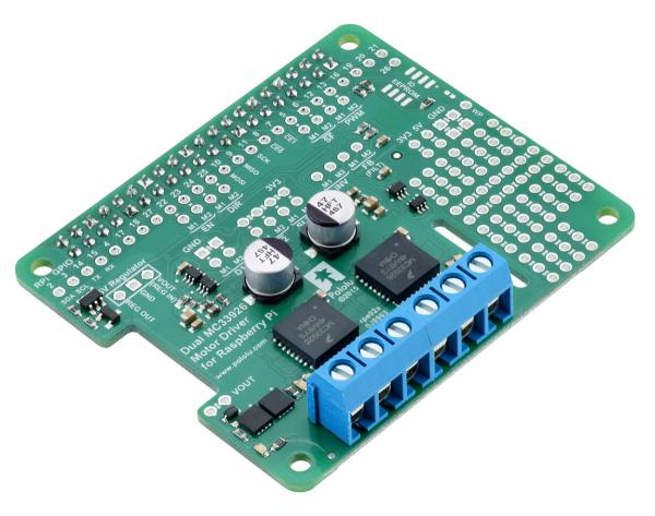 MC33926 Dual Motor Driver pentru Raspberry Pi 1