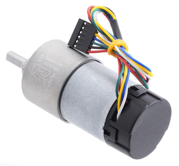 Pololu motor electric 131:1 37Dx73L 12V, codificator, pinion elicoidal [2]