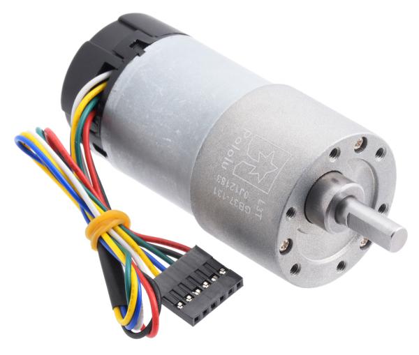 Pololu motor electric 131:1 37Dx73L 12V, codificator, pinion elicoidal [0]