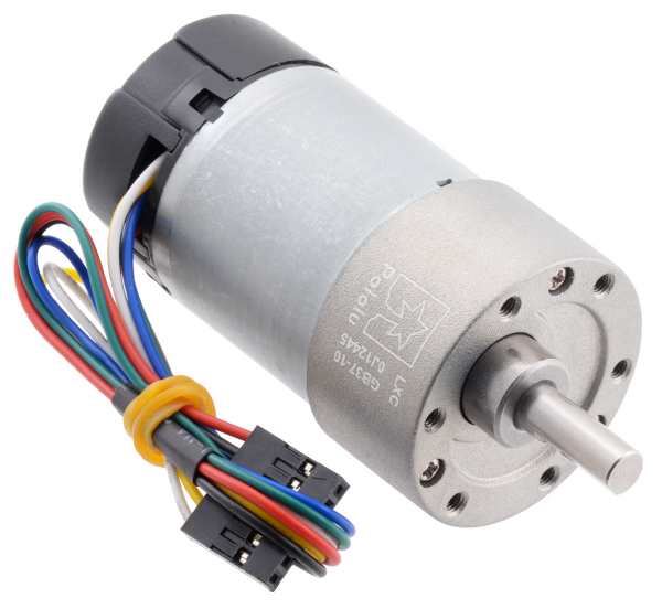 Pololu motor electric metalic, 10:1, 37Dx65L, 12V, pinion elicoidal 0