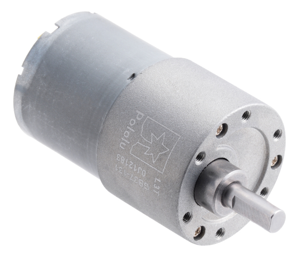 Pololu motor electric metalic, 131:1, 37Dx57L, 12V, pinion elicoidal 0