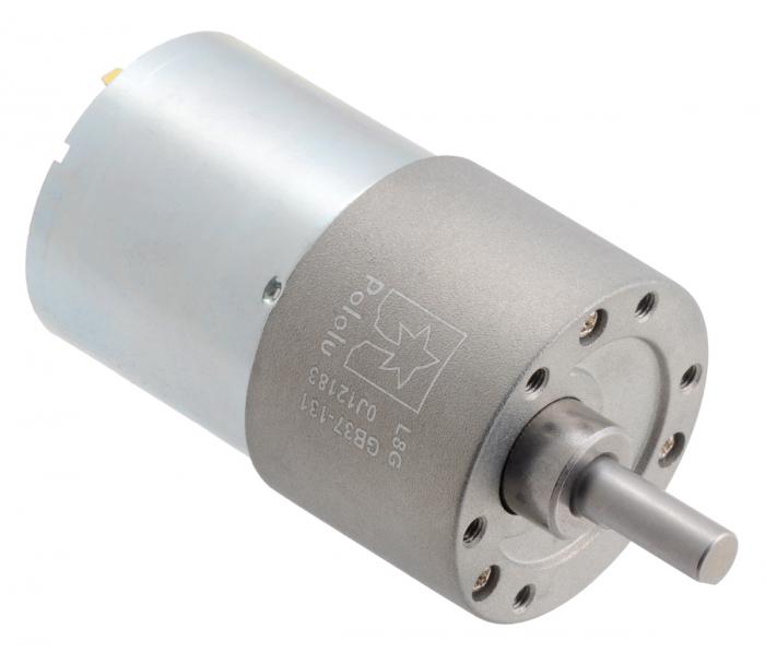 Pololu motor electric metalic 24V, 131:1, 37Dx57L, pinion elicoidal [0]