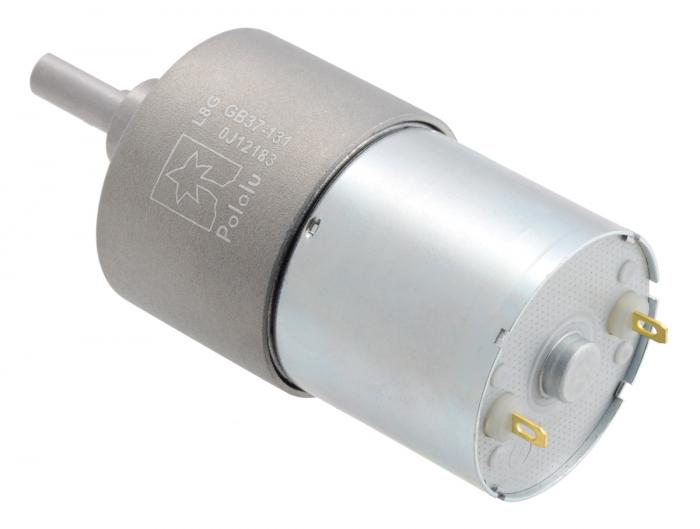 Pololu motor electric metalic 24V, 131:1, 37Dx57L, pinion elicoidal [2]